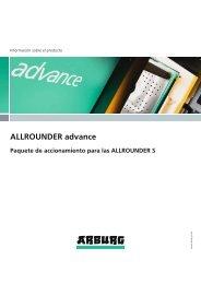 Información sobre el producto - ALLROUNDER advance - Arburg