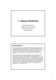 1. Klausur Strafrecht - unirep - Humboldt-Universität zu Berlin
