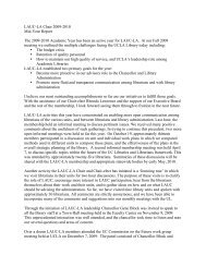 Chair's Report - UCLA