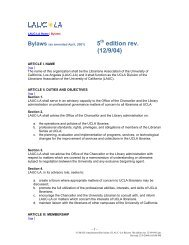 Proposed By-law Revisions - UCLA
