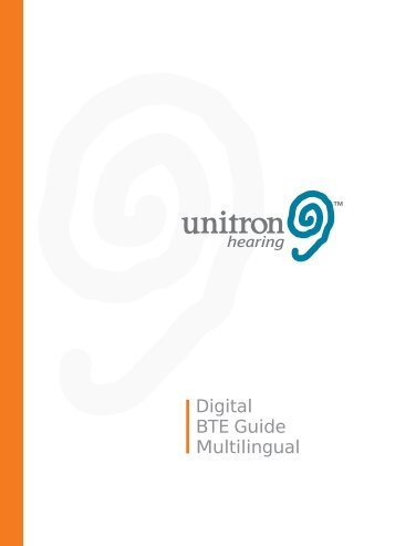 Unitron Hearing - Digital User Guide - Generic - Multilingual - PDF