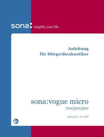 sona:vogue micro - Unitron