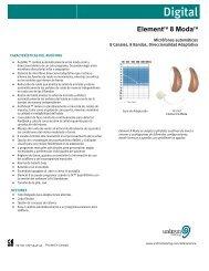Unitron Hearing - Element 8 Moda - Specification Sheet - Latin ...