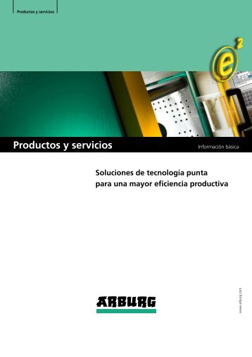 Información basica - productos y servicios - Arburg