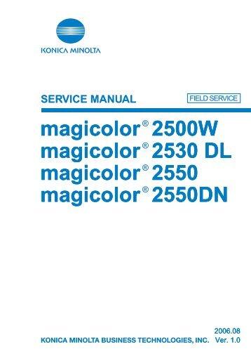 Konica minolta magicolor 2480 mf manual pdf download.