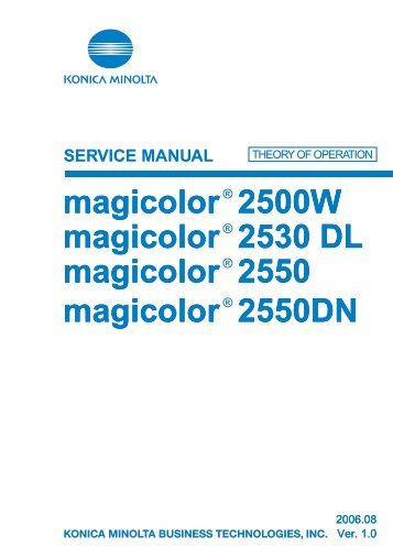 Konica minolta magicolor 2550 user manual | 174 pages | also for.