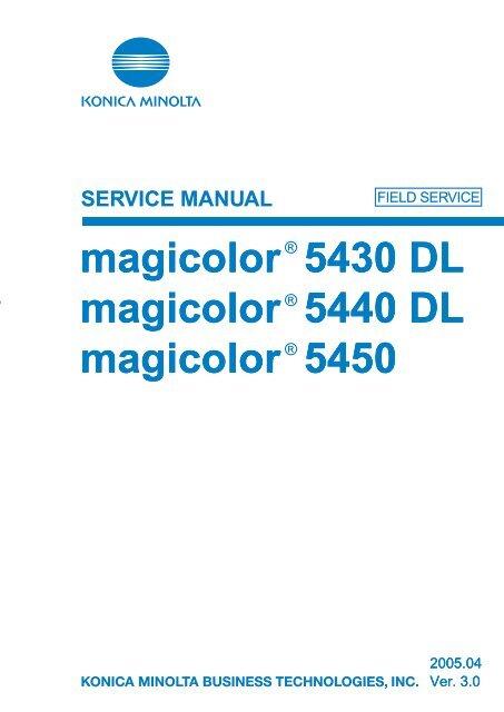 Konica minolta magicolor 2550 manuals.