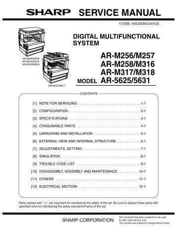 service manual ar 203e ar 203e x ar m200 ar m201 model ar 5420 rh yumpu com NexusLink 5631 Manual TCP Port 5631