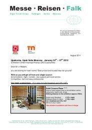 Please find travel offers for Upakovka / Upak Italia 2012 here.
