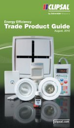 Energy Efficiency Trade Product Guide, 20742 (1704 KB) - Clipsal