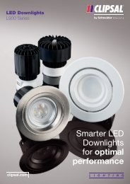 LED Downlights L900 Series Smarter LED Downlights for ... - Clipsal