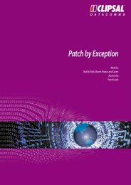 Technical Information - Patch by Exception - clipsal.co.nz