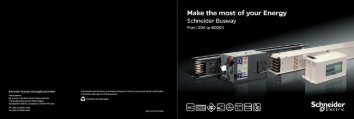 Schneider Electric Busway mini Brochure (2306 KB) - Clipsal
