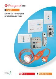 PDL Powerguard Series - Electrical Safety and Protection ... - Clipsal