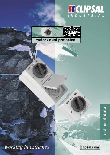 Xtreme Range Water and Dust Protected Technical Data ... - Clipsal