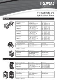 Product Data Sheet - F2219/01 - 600 Series, 20156 - Clipsal