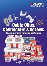 Cable Clips, Connectors and Screws - 5084 - Clipsal