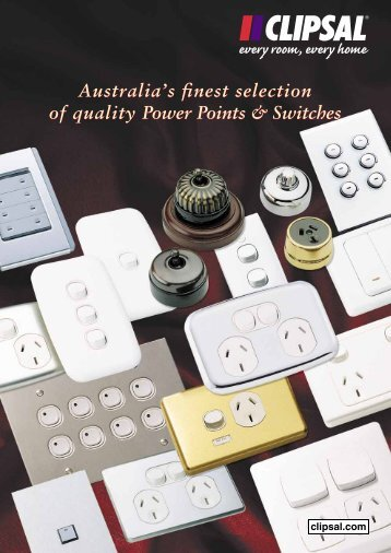 Australia's finest selection of quality Power Points & Switches - Clipsal