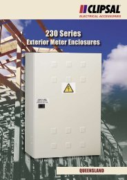 230 Series Exterior Meter Enclosures - Queensland, 892-696 - Clipsal