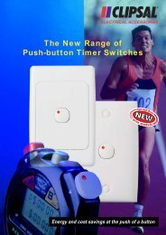 The new range of push-button timer switches - Clipsal