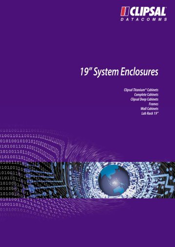 """Technical Information - 19"""" System Enclosures - clipsal.co.nz"""