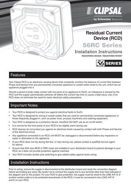 Clipsal Rcd Wiring Diagram