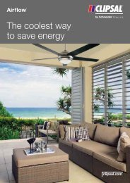 Airflow, The coolest way to save energy, 23036 (1075 KB) - Clipsal