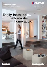 StarServe Audio, Audio Distribution System, Easily installed ... - Clipsal