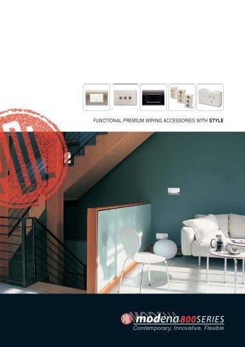 PDL Modena 800 Series - Contemporary, Innovative ... - Clipsal