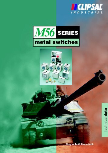 M56 Series Metal Switches Technical Data - Clipsal