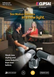754 Series Infrascan Passive Infrared Sensor lights, 22956 - Clipsal
