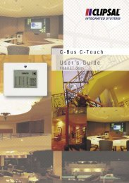 Operating Instructions - 5000CT Series C-Bus2 C-Touch ... - Clipsal