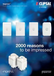 Impress Push-Button Switches & Dimmers. 2000 reasons to ... - Clipsal