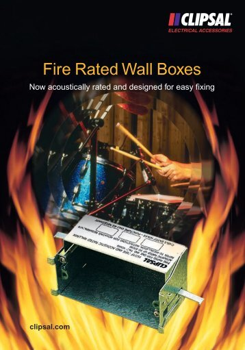 Fire Rated Wall Boxes, 261-831 - Clipsal