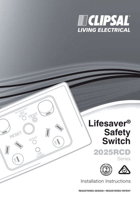 Lifesaver Safety Switch 2025rcd Clipsal