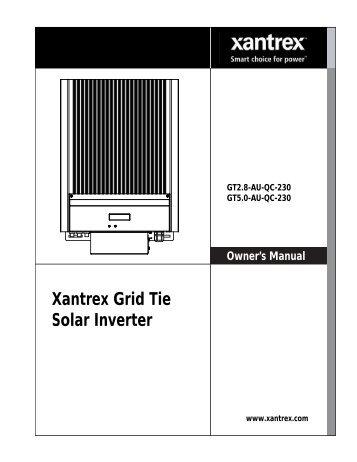 975-0466-01-01 - Xantrex - GT2.8-GT5 Series Inverters ... - Clipsal