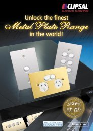 Unlock the finest Metal Plate Range in the world - 9317 - Clipsal
