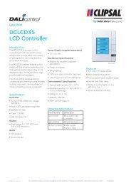 Product Data Sheet - Dali Control LCD Controller, 20121 - Clipsal