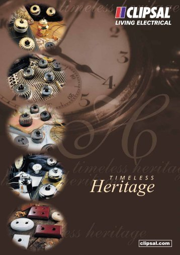 Product Data Sheet - Timeless Heritage, 16420 - Clipsal