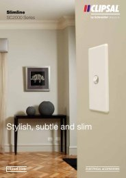 Slimline SC2000 Series. Stylish, Subtle and Slim, 23317 - Clipsal