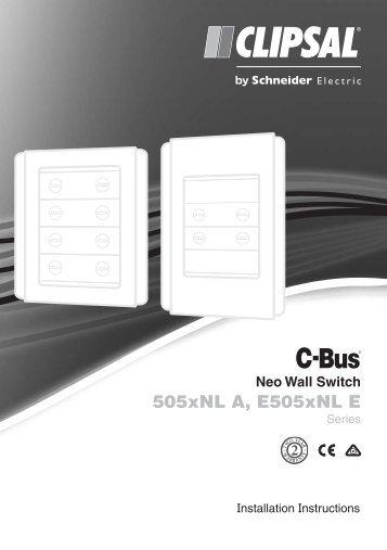 F1869/02 - 505xNL A, E505xNL E Series C-Bus Neo Wall ... - Clipsal