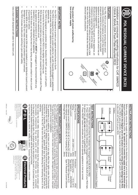Clipsal Rcd Mcb Wiring Diagram