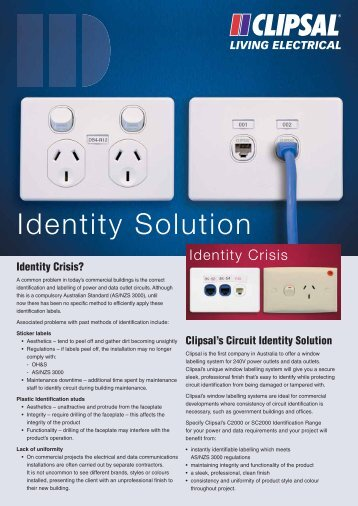 window ID labelling system - Clipsal