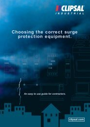 Choosing the correct surge protection equipment. An easy - Clipsal