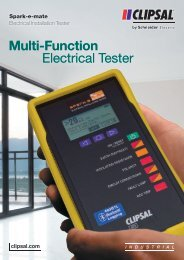 Spark-e-mate - Electrical Installation Tester. Multi-Function ... - Clipsal