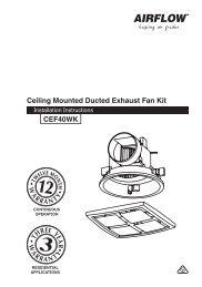 Ceiling Mounted Exhaust Fan CEF40WK, F1968 - clipsal.co.nz