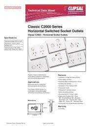 Classic C2000 Series Horizontal Switched Socket Outlets, Clipsal ...