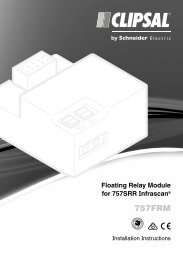 F2386/01 757FRM Floating Relay Module for 757SRR ... - Clipsal