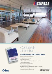 C-Bus Cool levels of control, Ceiling Sweep Fan Control ... - Clipsal