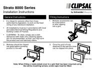 Installation Instructions - F2352/01 - Strato 8000 Series ... - Clipsal